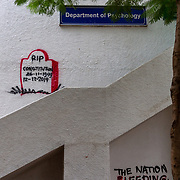 Graffitti inside the Jamia Campus