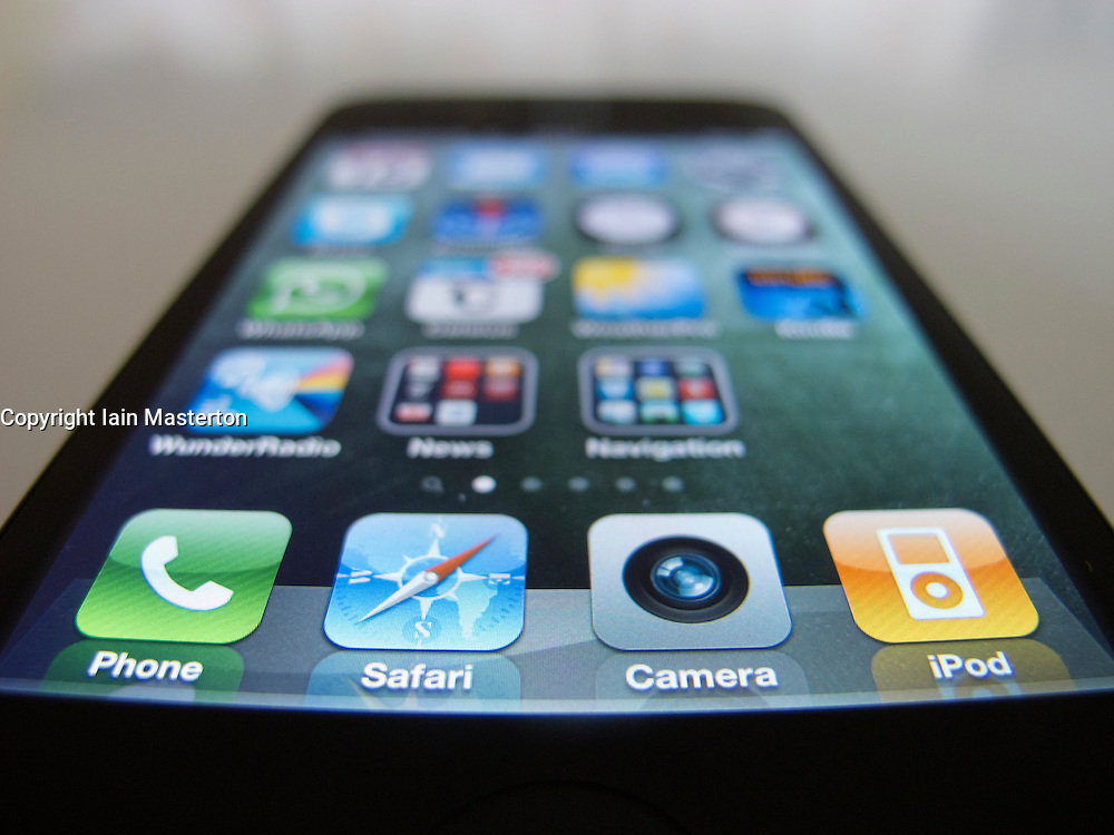 close-up of Apple iPhone 4G smart phone