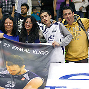 Efes Pilsen's supporters during their Turkish Basketball league match Efes Pilsen between Antalya BSB at the Ayhan Sahenk Arena in Istanbul Turkey on Wednesday 21 April 2010. Photo by Aykut AKICI/TURKPIX