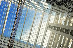 22-03-2012 VOLLEYBAL: PERSCONFERENTIE WK BEACHVOLLEYBAL 2015: DEN HAAG<br /> Het WK beachvolleybal 2015 wordt door de FIVB toegekend aan Nederland. In het stadhuis van Den Haag werd de pers op de hoogte gebracht / Service Richard Schuil bereikt bijna het dak van het stadhuis.<br /> ©2012-FotoHoogendoorn.nl