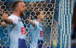 Anders K. Jacobsen (SønderjyskE) jubler efter scoringen til 0-2 under finalen i Sydbank Pokalen mellem AaB og SønderjyskE den 1. juli 2020 i Blue Water Arena, Esbjerg (Foto Claus Birch).