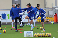 Cove Rangers Ross Graham (20) warms up ahead of the Betfred Scottish League Cup match between Cove Rangers and Hibernian at Balmoral Stadium, Aberdeen, Scotland on 10 October 2020.