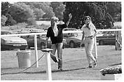 MIRANDA LEATHAM; PLUM SYKES, Burghley Horse Trials, 9 September 1988,<br /> <br /> SUPPLIED FOR ONE-TIME USE ONLY> DO NOT ARCHIVE. © Copyright Photograph by Dafydd Jones 248 Clapham Rd.  London SW90PZ Tel 020 7820 0771 www.dafjones.com