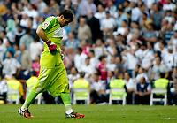 """Spanish  League""- match Real Madrid Vs FC Barcelona- season 2014-15 - Santiago Bernabeu Stadium -Iker Casillas(Real Madrid) during the Spanish League match against FC Barcelona(Photo: Guillermo Martinez / Bohza Press / Alter Photos)"