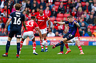 Luton Town forward James Collins (19) in action  during the EFL Sky Bet League 1 match between Barnsley and Luton Town at Oakwell, Barnsley, England on 13 October 2018.