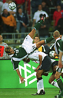 Fotball: Tyskland-England 1-5. München. 01.09.01.<br /><br />Miroslav KLOSE<br />                     WM-Quali   Deutschland - England  1:5