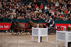 Exell Boyd, AUS, Bajnok, Clinton Star, Neapolitano, Demi<br /> FEI World Cup Driving - First Round<br /> Leipzig - Partner Pferd 2018<br /> © Hippo Foto - Stefan Lafrentz