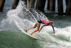 July 26, 2013 - Huntington Beach, California, U.S. - BIANCA BUITENDAG of South Africa makes a big splash during her Round 4 heat in the Women's competition at the Vans US Open of Surfing Friday afternoon. Bianca won her heat and will face off against Tyler Wright from Australia in the quarterfinals. (Credit Image: © Kevin Lara/The Orange County Register/ZUMAPRESS.com)