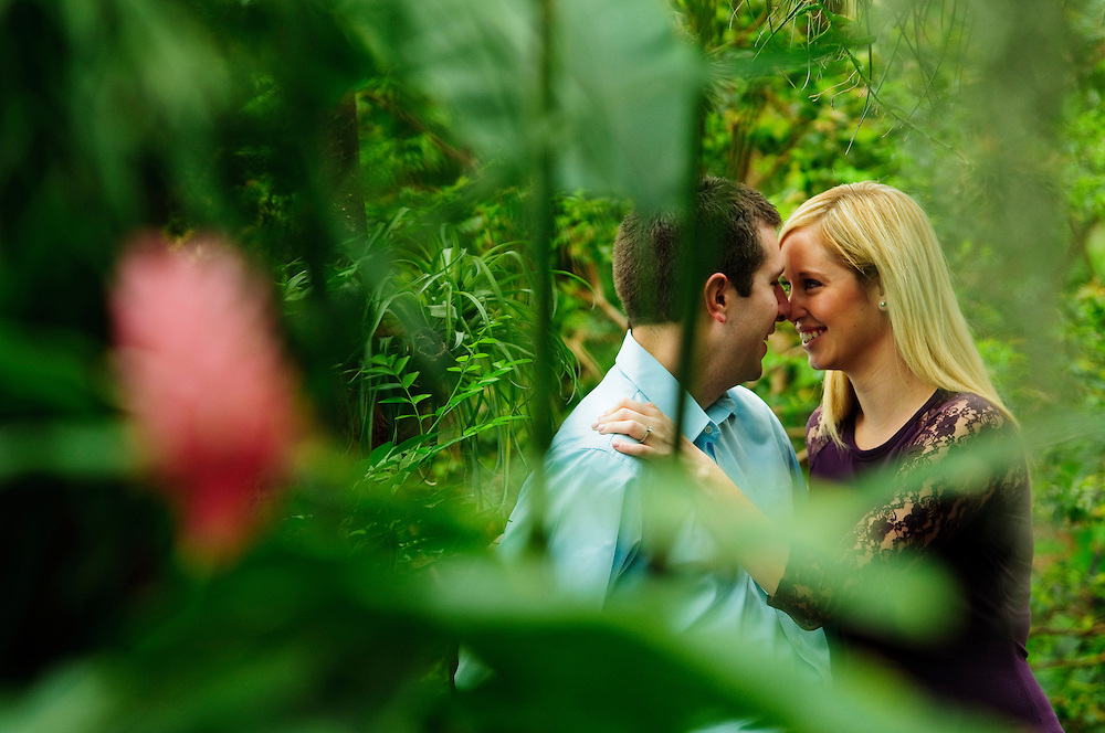Lauren Zuro and Russ Usauskas are photographed at the Garfield Park Conservatory on Chicago's west side on Saturday, March 28th. © 2015 Brian J. Morowczynski-ViaPhotos