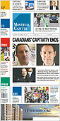 September 25, 2021 - CANADA: Front-page: Today's Newspapers In Canada