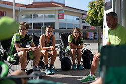 Cylance Pro Cycling have a pre-race team talk at the Crescent Vargarda - a 42.5 km team time trial, starting and finishing in Vargarda on August 11, 2017, in Vastra Gotaland, Sweden. (Photo by Sean Robinson/Velofocus.com)