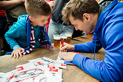 Ales Kranjc of Slovenia of Slovenian Ice Hockey National Team at meeting with their supporters at day off during 2015 IIHF World Championship, on May 9, 2015 in Restaurant Zadni Vratka, Stodolni Street, Ostrava, Czech Republic. Photo by Vid Ponikvar / Sportida