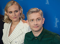 Actress Diane Kruger and actor Martin Freeman at the photocall for the film The Operative (Die Agentin) at the 69th Berlinale International Film Festival, on Sunday 10th February 2019, Hotel Grand Hyatt, Berlin, Germany.