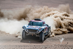 Stephane Peterhansel (FRA) of X-raid Mini JCW Team races during stage 4 of Rally Dakar 2019 from Arequipa to Tacna, Peru on January 10, 2019. // Flavien Duhamel/Red Bull Content Pool // AP-1Y3A61D512111 // Usage for editorial use only // Please go to www.redbullcontentpool.com for further information. //