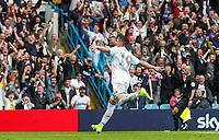 Leeds United's Pablo Hernandez celebrates scoring the opening goal <br /> <br /> Photographer Alex Dodd/CameraSport<br /> <br /> The EFL Sky Bet Championship - Leeds United v Nottingham Forest - Saturday 10th August 2019 - Elland Road - Leeds<br /> <br /> World Copyright © 2019 CameraSport. All rights reserved. 43 Linden Ave. Countesthorpe. Leicester. England. LE8 5PG - Tel: +44 (0) 116 277 4147 - admin@camerasport.com - www.camerasport.com