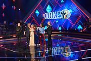 Finale 'It takes 2' 2018 in Studio Baarn.<br /> <br /> Op de foto:  Dionne Slagter en  Eva Cleven met profs Romy Monteiro en Marcel Veenendaal en presentatoren Jamai Loman en Gordon