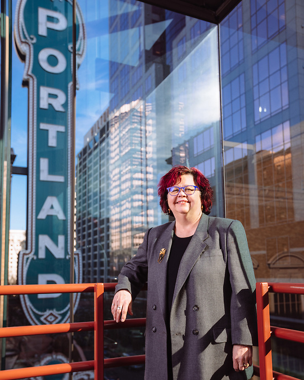 Robyn Williams, Executive Director of Portland'5, photographed for Music Portland at Antoinette Hatfield Hall in Jan. 2019. Photo by Jason Quigley