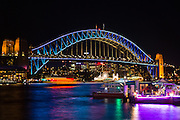 View of Sydney Harbour Bridge during Vivd Sydney 2016
