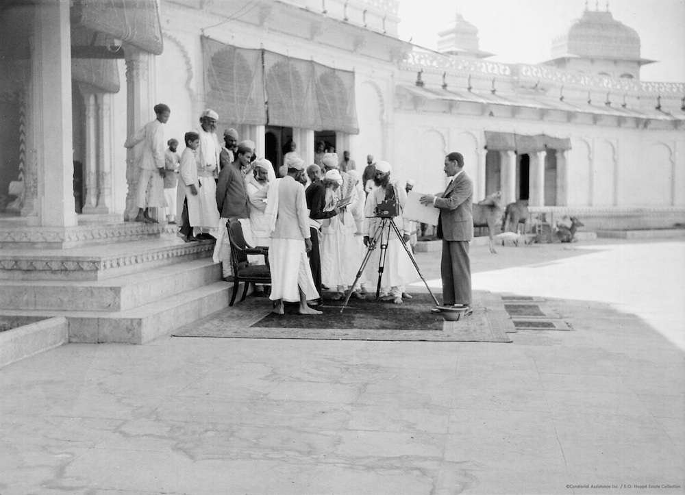 The Maharaja of Udaipur Preparing to Have his Photograph taken by E.O. Hoppé, India, 1929