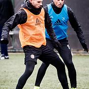 NLD/Rotterdam/20180301 - Training Feyenoord voor de bekerfinale, Bart Nieuwkoop en Sofyan Amrabat