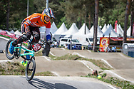 #313 (KIMMANN Niek) NED at Round 5 of the 2018 UCI BMX Superscross World Cup in Zolder, Belgium