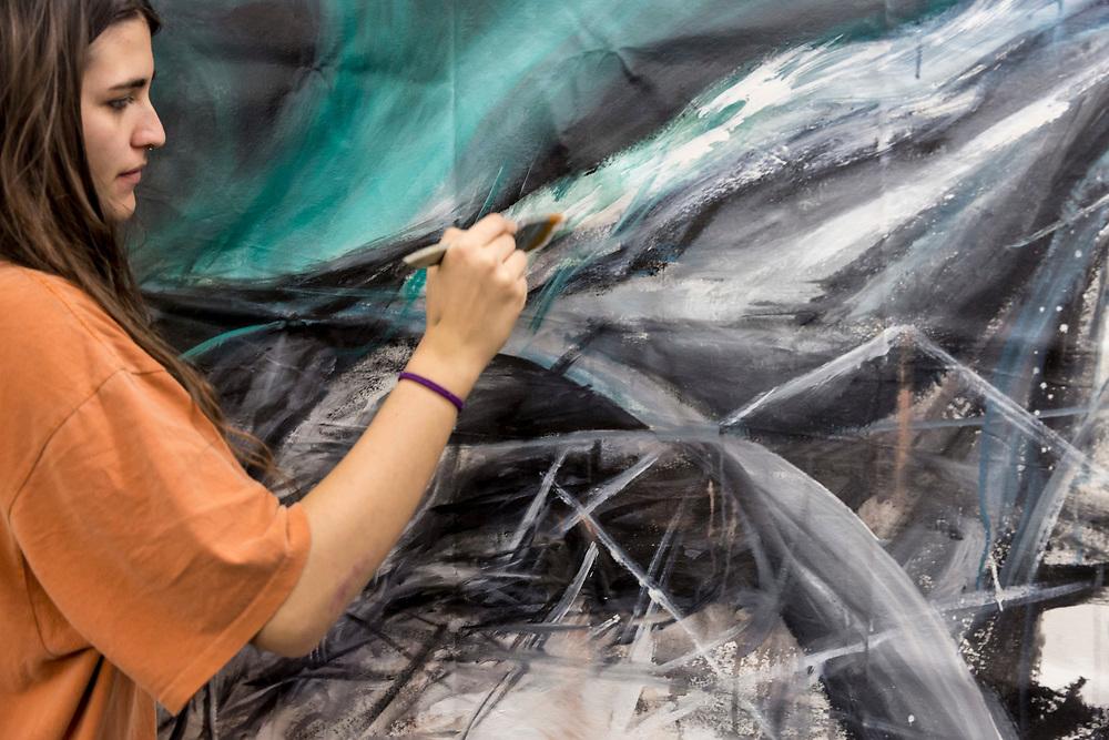 Art Academy day at Newington 3rd year Diploma and Foundation Students, Art Academy, Newington, London, England, on 9th March 2018
