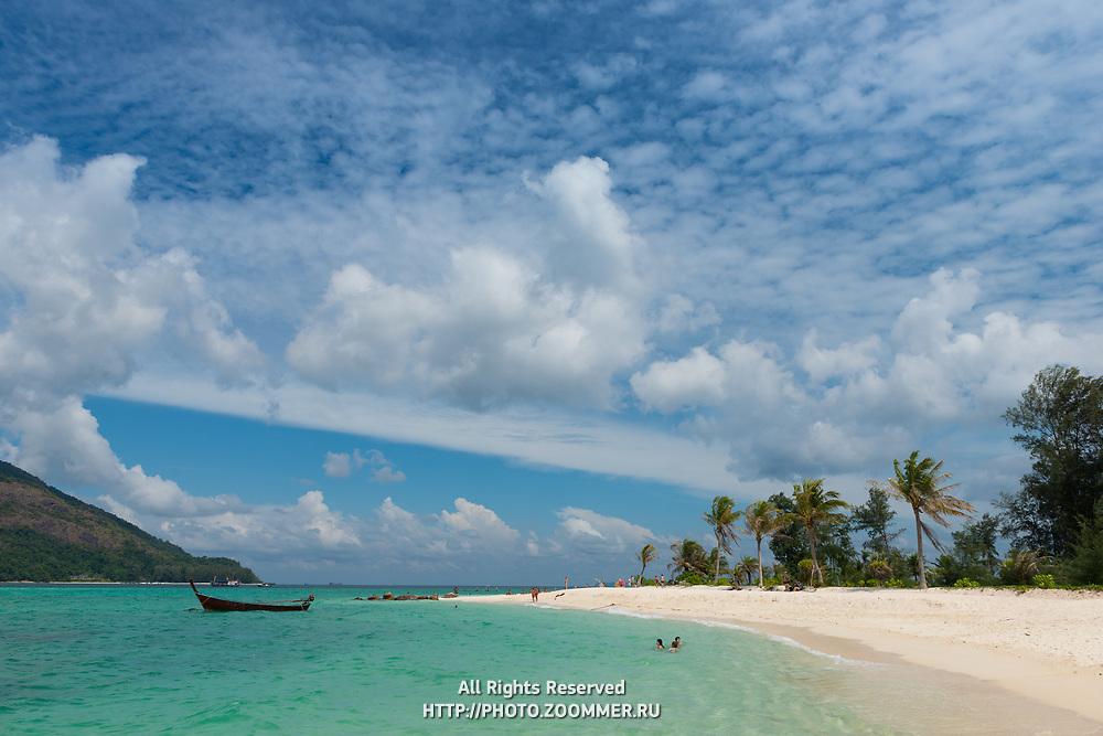 Koh Lipe beautiful beach panorama, Thailand