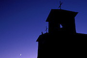San Francisco de Asis Mission Church at dusk, Rancho de Taos, New Mexico USA