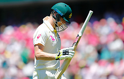 Australia's Steve Smith walks off after being dismissed during day two of the Ashes Test match at Sydney Cricket Ground.