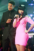 27 February 2010- New York, NY- l to r: Pooch Hall and Nicki Minaj at the BET 2010 RIP The RUNWAY held at the Hammerstein Ballroom on February 27, 2010 in New York City. Photo Credit: Terrence Jennings/Sipa
