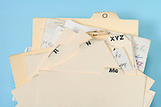alphabetic filing cards
