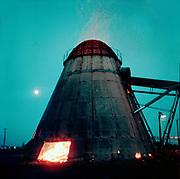 "1006-G058 sawmill wigwam at twilight, Eugene ""June 15, 1959"""