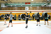 Shadow Armada Indoor Percussion practices for the Winter Guard International (WGI) competition in Oregon, Wisconsin on April 17, 2013.