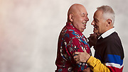 mature gay couple.