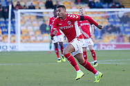 Karlan Grant of Charlton Athletic (18) during the The FA Cup match between Mansfield Town and Charlton Athletic at the One Call Stadium, Mansfield, England on 11 November 2018.