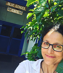 "Julia Louis-Dreyfus releases a photo on Instagram with the following caption: ""Hiding in the bushes outside the Blue Ginger Cafe. #lanai"". Photo Credit: Instagram *** No USA Distribution *** For Editorial Use Only *** Not to be Published in Books or Photo Books ***  Please note: Fees charged by the agency are for the agency's services only, and do not, nor are they intended to, convey to the user any ownership of Copyright or License in the material. The agency does not claim any ownership including but not limited to Copyright or License in the attached material. By publishing this material you expressly agree to indemnify and to hold the agency and its directors, shareholders and employees harmless from any loss, claims, damages, demands, expenses (including legal fees), or any causes of action or allegation against the agency arising out of or connected in any way with publication of the material."