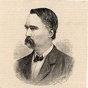 Charles Tilston Bright (1832-1888) English electrical engineer, born at Wanstead, Essex.  He oversaw the laying of the first transatlantic telegraph cable.   President of the Institution of Electrical Engineers, 1887.  Engraving from 'The Illustrated London News' (London, 1888).
