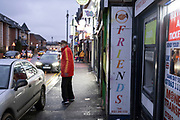 Exterior of Friends Group Limited money transfer shop on Ladypool Road on 10th December 2020 in Birmingham, United Kingdom. This area is predominantly inhabited by Asian families. Sparkbrook has the second highest non-white population in Birmingham, with minority ethnic residents living in the area; notably it is home to a large Somali population. Sparkbrook is also the location of Birminghams Balti Triangle, as many of the residents have their own balti businesses.