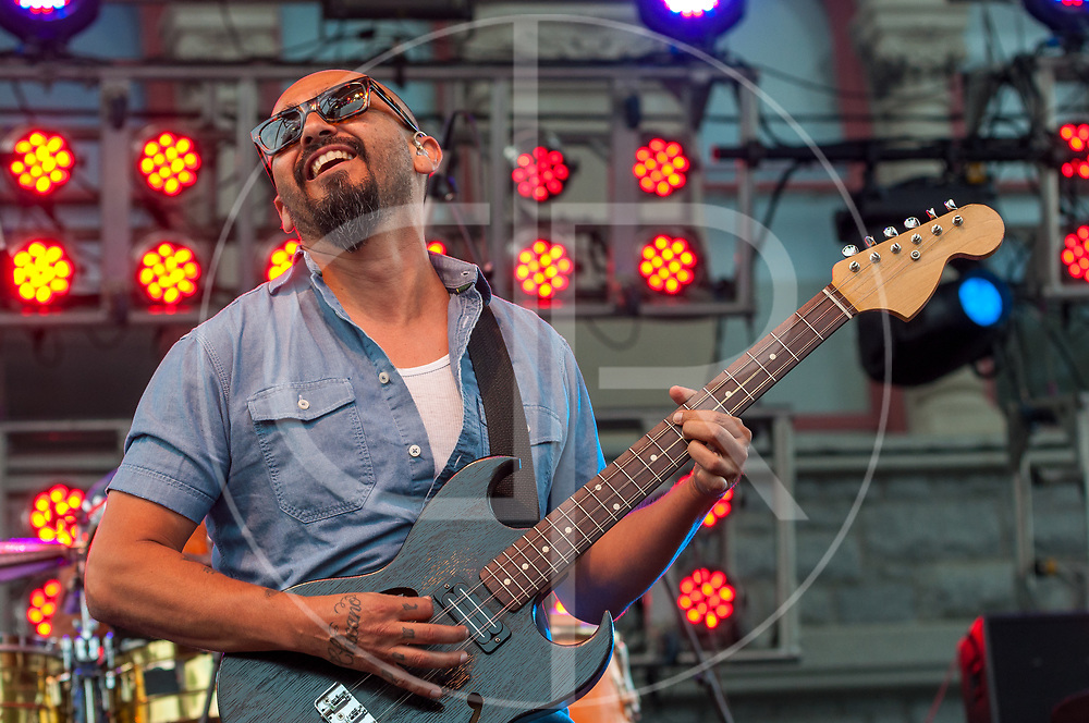 BALTIMORE United States - July 19, 2014: Raul Pacheco of Ozomatli performs on the Wells Fargo Stage at Artscape, located in Baltimore's Mount Royal Cultural Corridor
