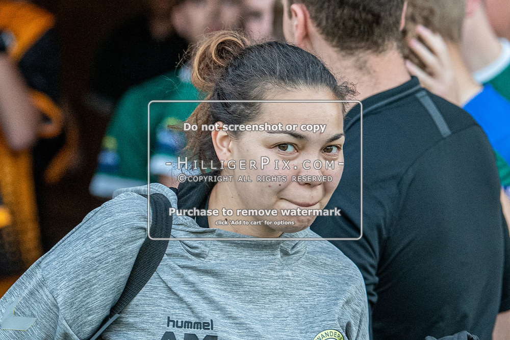 BROMLEY, UK - SEPTEMBER 18: Ally Maloney, Club Physio of Cray Wanderers FC, before the FA Youth Cup First Round Qualifier match between Cray Wanderers FC U18 and Ashford United FC U18 at Hayes Lane on September 18, 2019 in Bromley, UK. <br /> (Photo: Jon Hilliger)