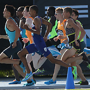 Competitors in action in the adidas Men's 800m during the Diamond League Adidas Grand Prix at Icahn Stadium, Randall's Island, Manhattan, New York, USA. 14th June 2014. Photo Tim Clayton