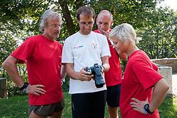 Prof. dr. Rajko Kenda, Urban Praprotnik, Ales Sabeder and singer Katja Koren at Mercator izziv, on August 19, 2011, on Ljubljanski grad, Ljubljana, Slovenia (Photo by Matic Klansek Velej / Sportida)