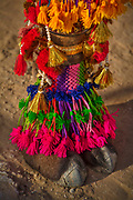 Camel foot at a dressing competition at the Desert Festival on 29th January 2018  in Jaisalmer, Rajasthan, India. It is an annual event that take place in February month in the beautiful city Jaisalmer. It is held in the Hindu month of Magh February, three days prior to the full moon.