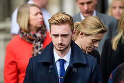 © Licensed to London News Pictures. 28/02/2017. London, UK. Owen Richards leaves the Royal Courts of Justice in London where Judge Nicholas Loraine-Smith handed down a ruling on the cause of death of 30 Britons gunned down by Seifeddine Rezgui, on a beach in Sousse, Tunisia.  Photo credit: Ben Cawthra/LNP