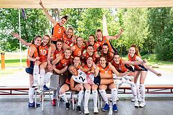 Teamphoto, Photoshoot selection of Orange women's youth volleybal team season 2021on june 15, 2021 in Arnhem, Netherlands (Photo by RHF Agency/Ronald Hoogendoorn)