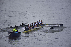 March 24, 2018 - London, United Kingdom - Cambridge University Boat Club blue crew are pictured at the start of The Cancer Research UK Boat Race, London on March 24, 2018. Cambridge were victorious in both The Cancer Research UK Women's Boat Race 2018 and The Cancer Research UK Men's Boat Race 2018. (Credit Image: © Alberto Pezzali/NurPhoto via ZUMA Press)