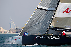 Artemis Racing (SWE) versus BMW Oracle Racing (USA), RR1. BMW Oracle Racing wins both matches. Dubai, United Arab Emirates, November 15th 2010. Louis Vuitton Trophy  Dubai (12 - 27 November 2010) © Sander van der Borch / Artemis Racing