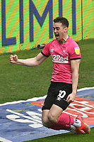 Football - 2020 / 2021 Sky Bet Championship - Swansea City vs Derby County - Liberty Stadium<br /> <br /> Tom Lawrence Derby County celebrates scoring his team's first goal <br /> <br /> COLORSPORT/WINSTON BYNORTH