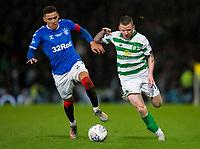 Football - 2019 Betfred Scottish League Cup Final - Celtic vs. Rangers<br /> <br /> James Tavernier of Rangers vies with Jonny Hayes of Celtic, Hampden Park Glasgow.<br /> <br /> COLORSPORT/BRUCE WHITE