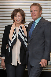 "© Licensed to London News Pictures. 9 April 2014. London, England. American actress Anne Archer poses with her husband Terry Jastrow at a photocall to promote the UK debut of her new play ""The Trial of Jane Fonda"". The play, written by Terry Jastrow, will have its world premiere at the Edinburgh Festival Fringe in 2014. The play deals with Jane Fonda's controversial effort to end the Vietnam War. Photo credit: Bettina Strenske/LNP"